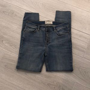 Free people button fly jeans 28